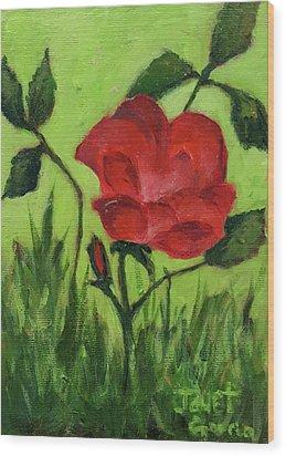 Rose Wood Print by Janet Garcia