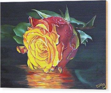 Rose Laura Wood Print