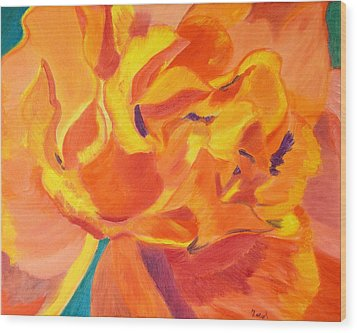 Heart Of A Rose Wood Print