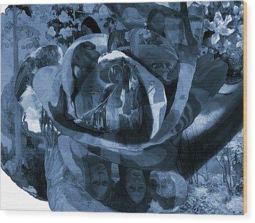 Rose No 1 Wood Print by David Bridburg