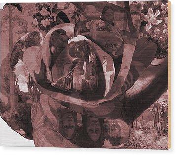 Rose No 2 Wood Print by David Bridburg