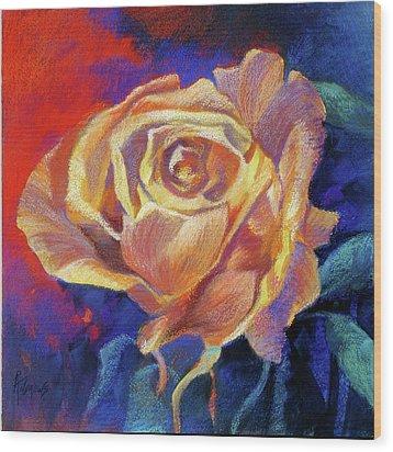 Rose Wood Print by Rae Andrews