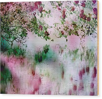 Rose Reflections Wood Print