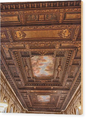 Wood Print featuring the photograph Rose Room Ceiling by Jessica Jenney