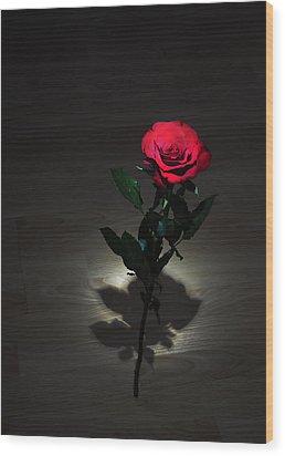 Rose Wood Print by Svetlana Sewell