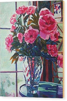 Rose Symphony Wood Print by David Lloyd Glover