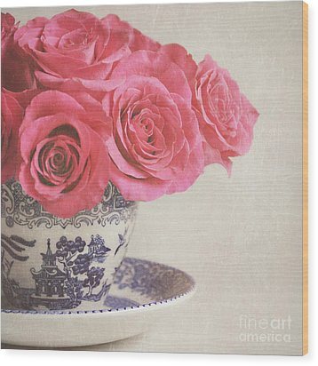 Wood Print featuring the photograph Rose Tea by Lyn Randle