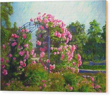 Rose Trellis Wood Print by Michael Durst