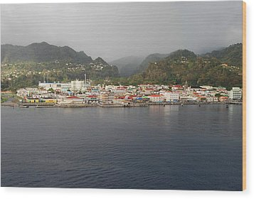 Wood Print featuring the photograph Roseau Dominica by Gary Wonning