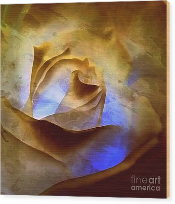 Wood Print featuring the photograph Rosebud - Till We Meet Again by Janine Riley