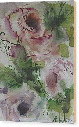 Wood Print featuring the painting Rosebuds by Robert Joyner