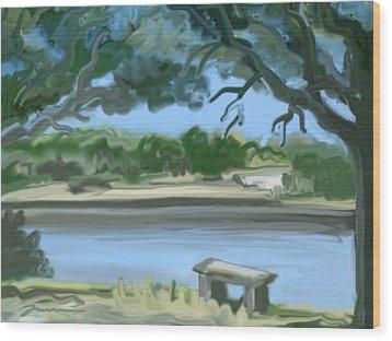 Rosemary Lake Wood Print by Jean Pacheco Ravinski
