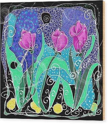 Roses And Lemons Wood Print by Debra Baldwin