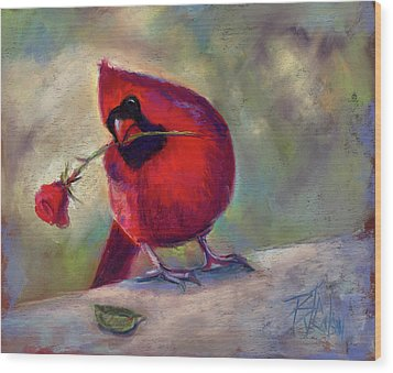 Wood Print featuring the painting Roses Are Red And So Am I  by Billie Colson