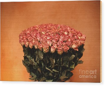 Roses Wood Print by Arvind Garg
