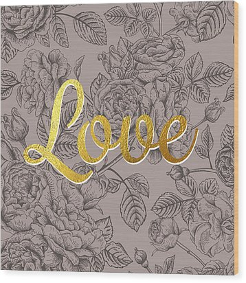 Roses For Love Wood Print by BONB Creative