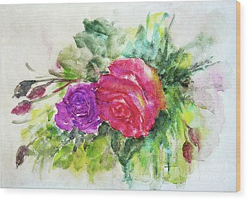 Roses For You Wood Print by Jasna Dragun