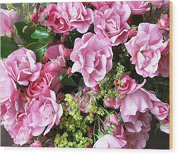 Roses From The Garden Wood Print