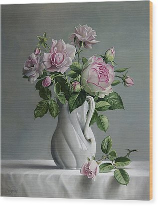 Roses Wood Print by Pieter Wagemans