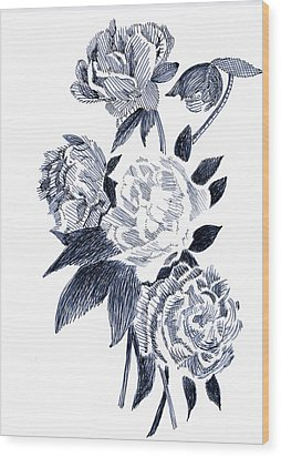 Roses Wood Print by Robbi  Musser