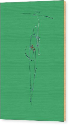 Roses Under Umbrella Wood Print by Viktor Savchenko