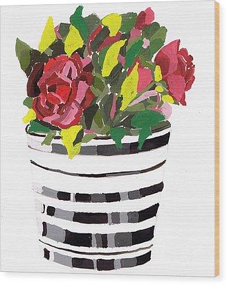 Roses Wood Print by Zara GDezfuli