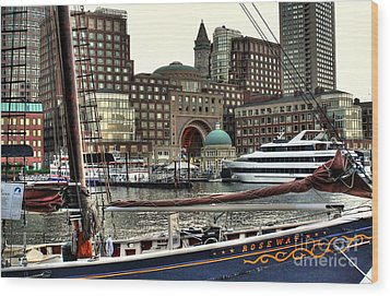 Roseway Boston Wood Print by Adrian LaRoque