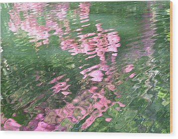 Rosey Ripples Wood Print by Linda Geiger