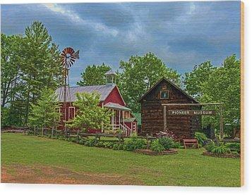 Rosholt Pioneer Park Wood Print by Trey Foerster