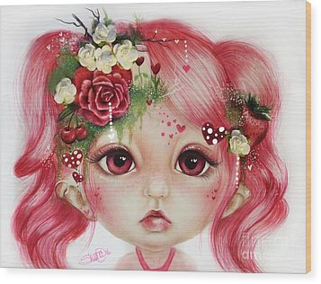 Rosie Valentine - Munchkinz Collection  Wood Print by Sheena Pike