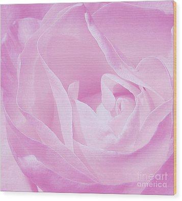 Rosy Cheek Pink Wood Print by Janice Westerberg