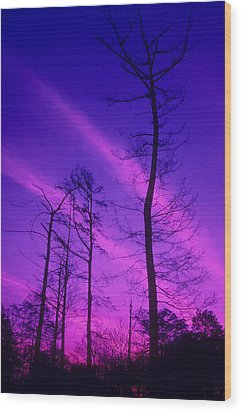 Rosy Fingers Of Dawn Wood Print by Gerard Fritz