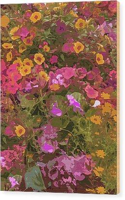 Rosy Garden Wood Print