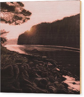 Rosy Glow Of Morning Wood Print