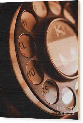 Rotary Dial Wood Print by Mark Miller