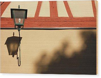 Wood Print featuring the photograph Rotenburg Lantern by KG Thienemann
