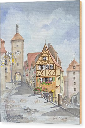 Rothenburg In Germany Wood Print by Jean White