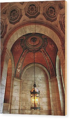 Wood Print featuring the photograph Rotunda Ceiling by Jessica Jenney
