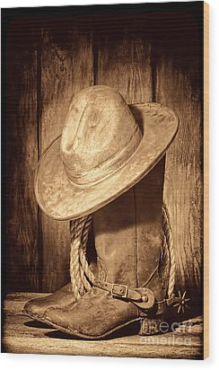 Rough Rider Wood Print by American West Legend By Olivier Le Queinec