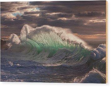 Rough Sea 12 Wood Print