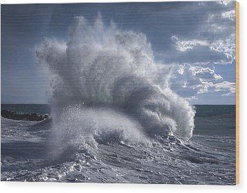 Rough Sea 20 Wood Print