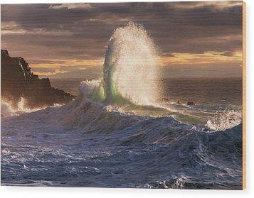 Rough Sea 21 Wood Print