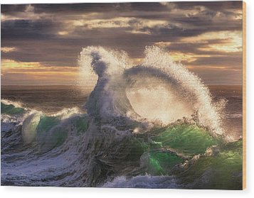 Rough Sea 23 Wood Print