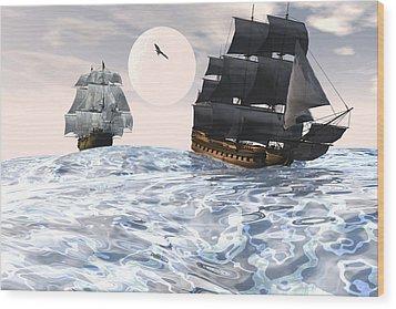 Rough Seas Wood Print by Claude McCoy