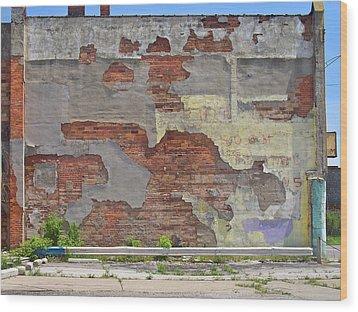 Rough Wall Wood Print by David Kyte