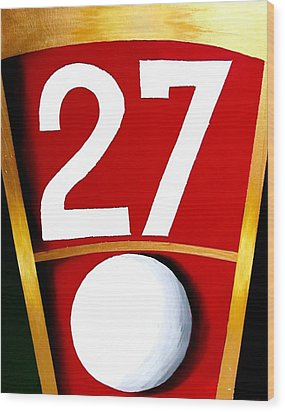 Roulette 27 Red  Wood Print by Teo Alfonso