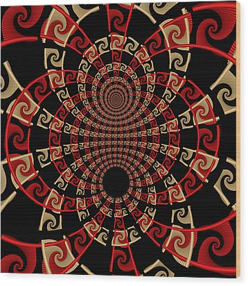 Roulette Sunset Wood Print by David April