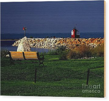 Round Island Lighthouse Mackinac Island Michigan Wood Print