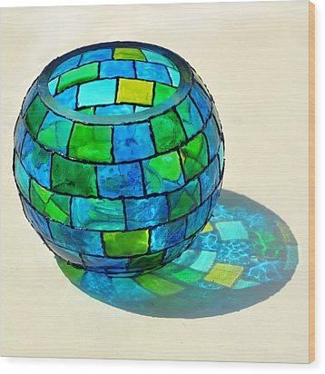 Round N Round Wood Print by Farah Faizal