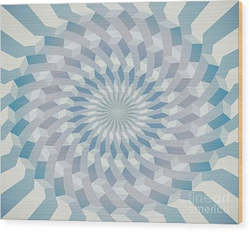 Round Pattern 170.4 Wood Print by Igor Kislev